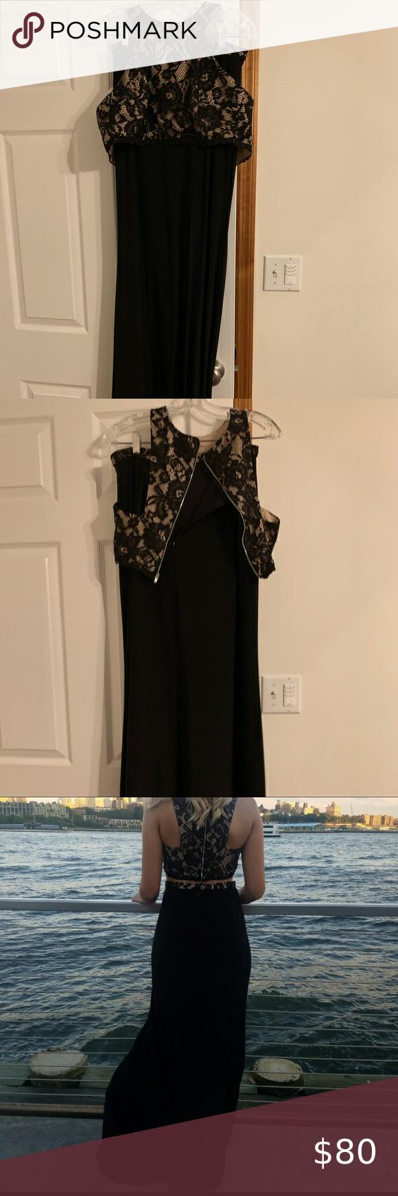 X Scape 2 Piece Prom Dress Worn Once 2 Piece Prom Dress Piece Prom Dress Dress Size Chart Women [ 1740 x 580 Pixel ]