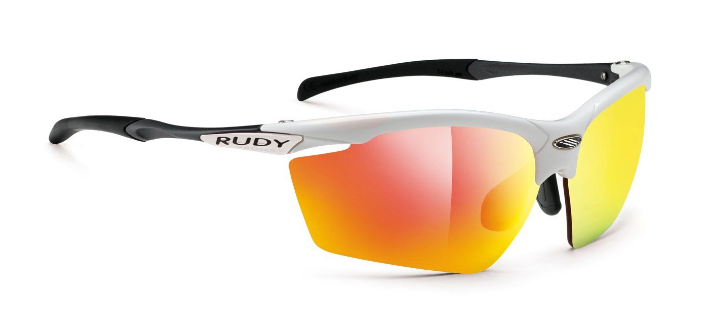ce84656151 Rudy Project Sunglasses - AGON RACING WHITE GLOSS WITH MULTILASER ORANGE    RACING RED LENSES