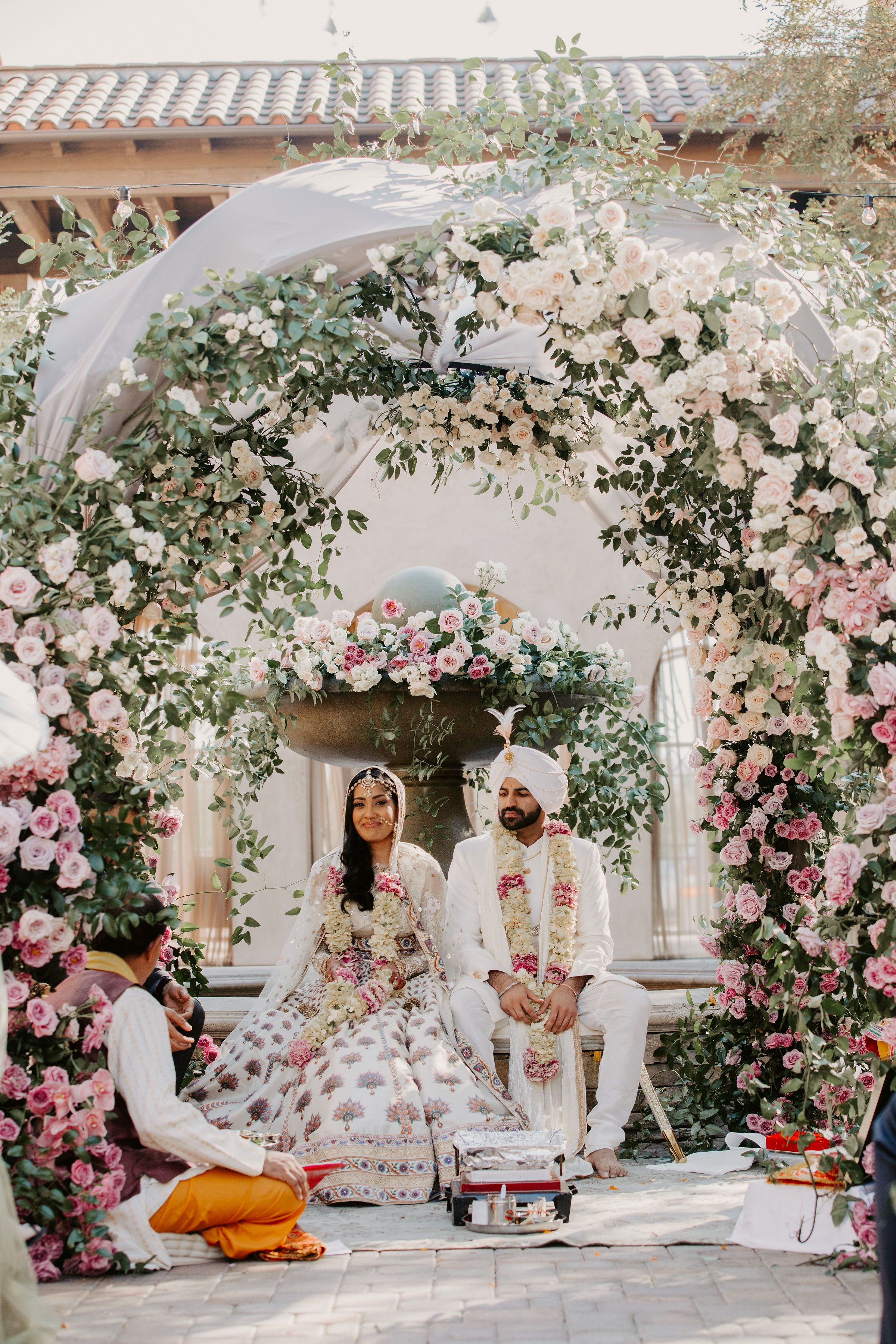 A Dramatic California Wedding with Hindu and Sikh Elements