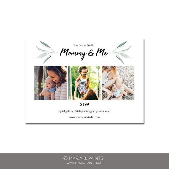 Mother\u0027s Day Mini Session Photography Template Mommy Me Marketing - sell sheet template