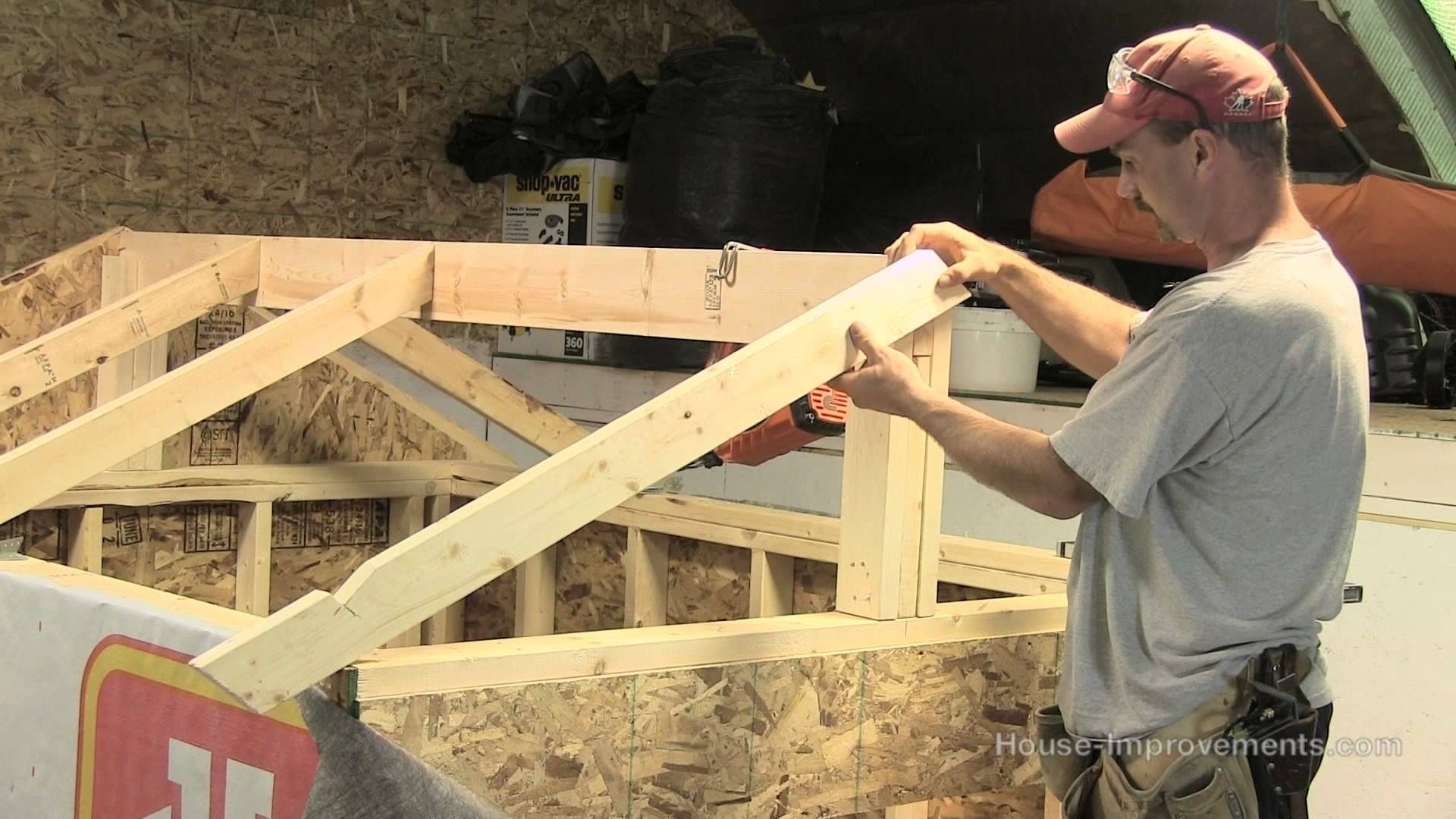 How To Build A Shed Part 3 Building Installing Rafters