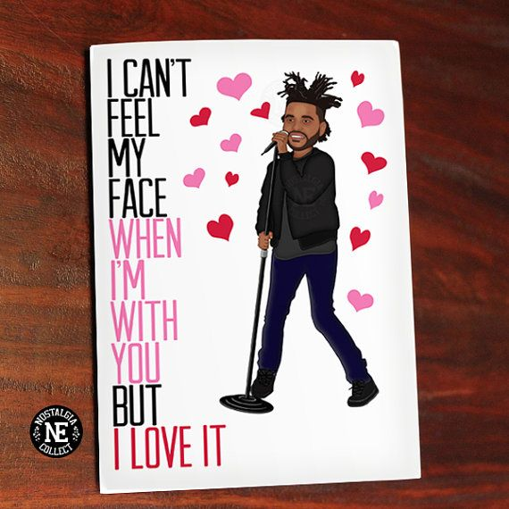 The Weeknd Valentines Day Greetings Card Cant By Nostalgia Collect