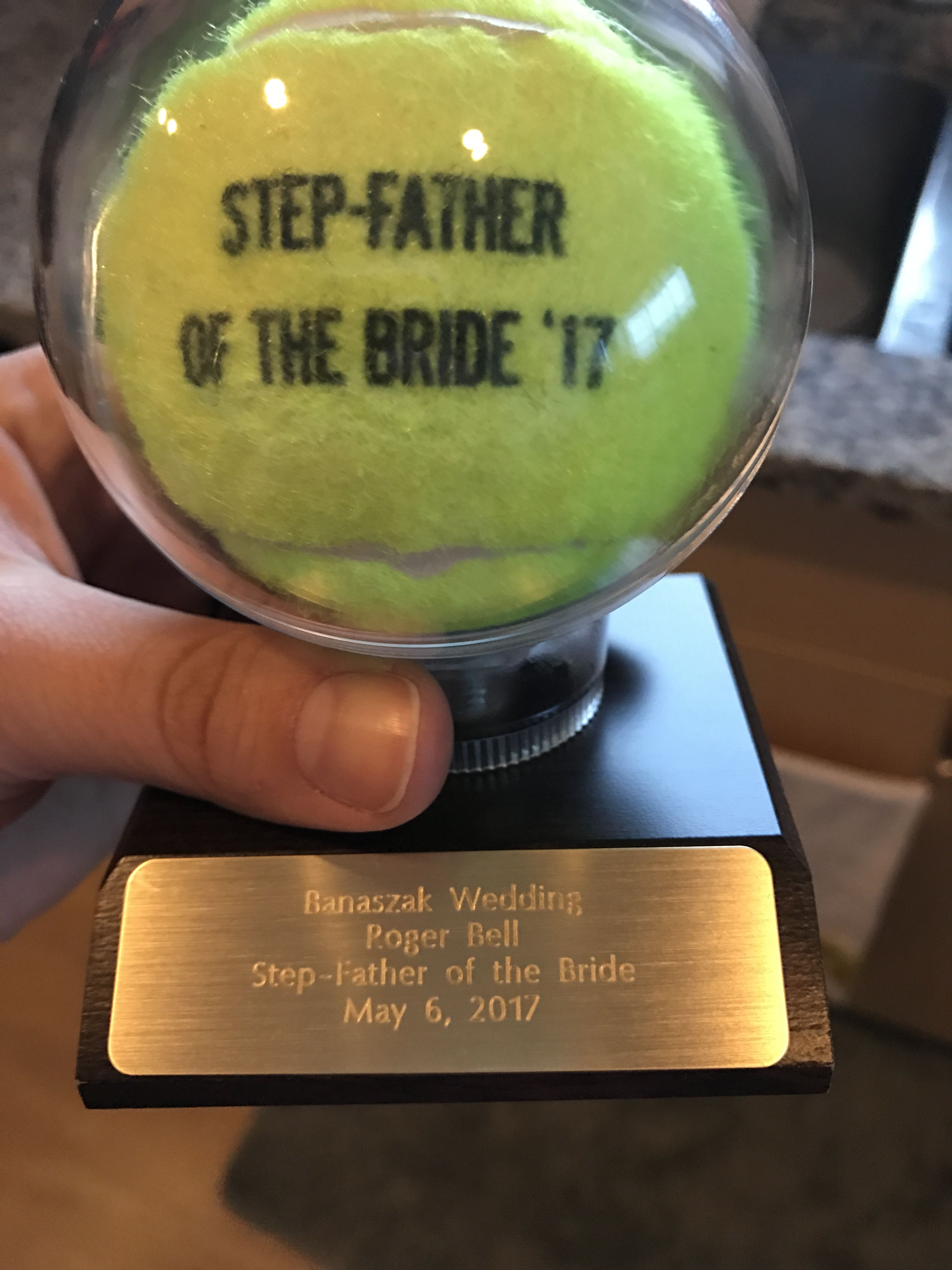 Custom stepfather of the bride gift father of the bride