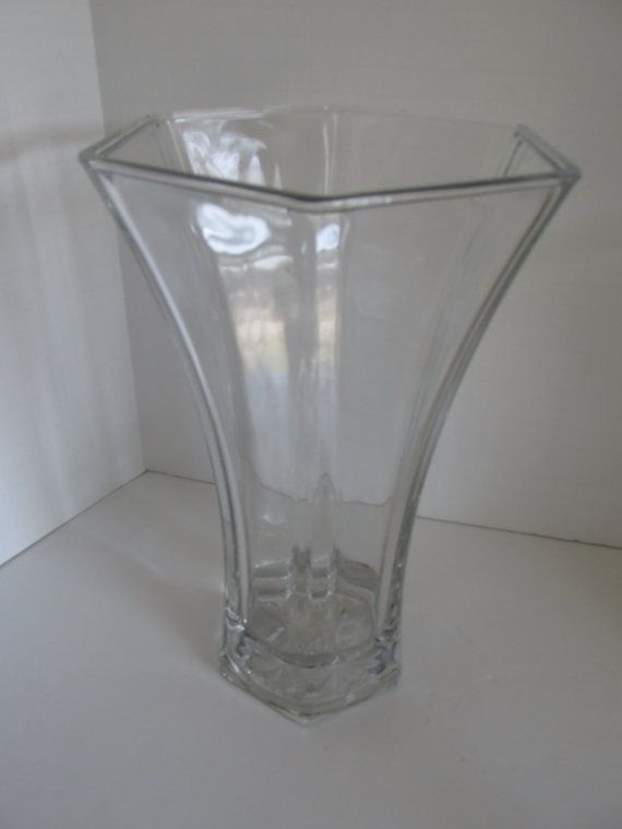Hoosier Glass Vase 4041 Large Heavy Clear Glass By Revintagelannie