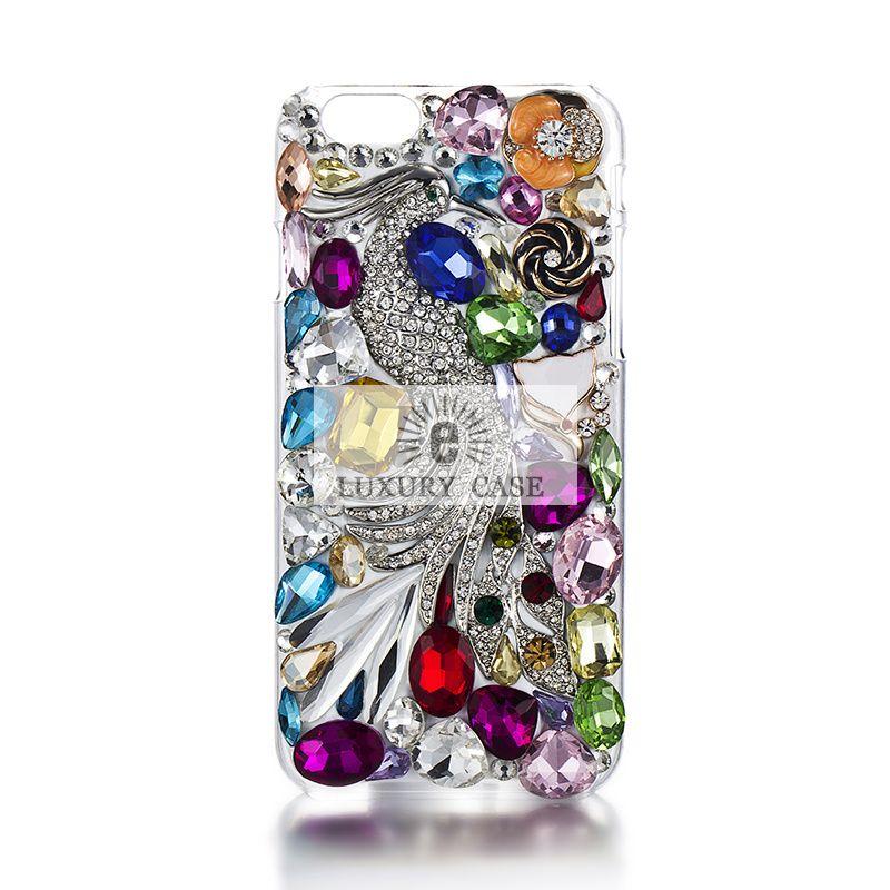 Amazing Swarovski element Peacock iPhone 6 Case Vogue Design