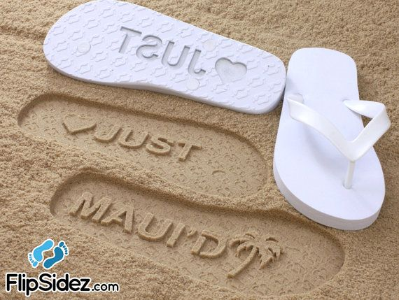 724f50b10 Custom Beach Wedding Flip Flops  Check size chart before ordering ...