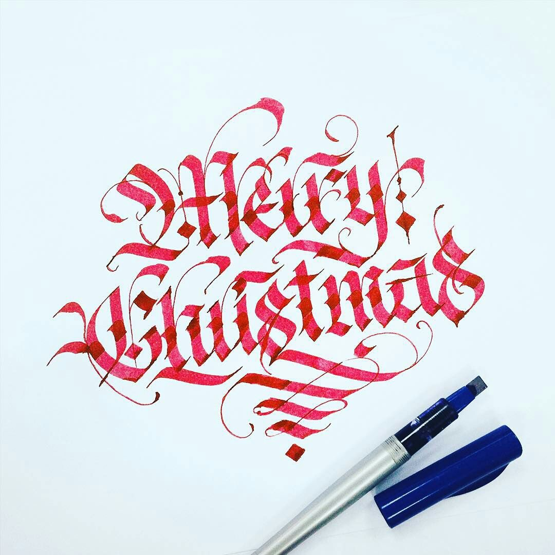 Merry Christmas // Calligraphy by typewa Gothic