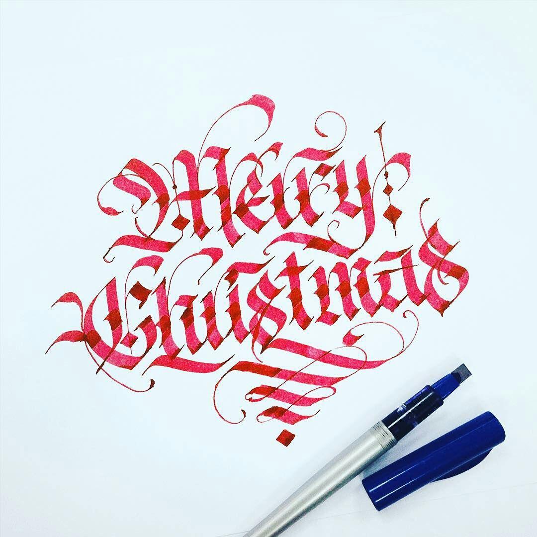 Merry Christmas // Calligraphy by @typewa | Calligraphy ...
