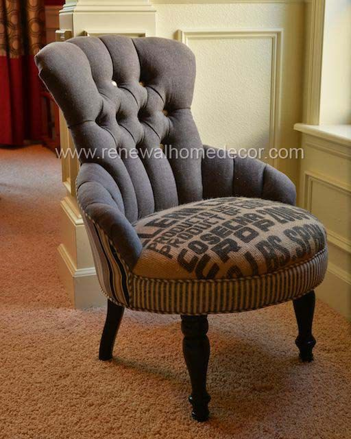 Vintage Accent Chair Clean Coffee Sold By Renewalhomedecor 1 100 00 Mebel Kreslo Puf