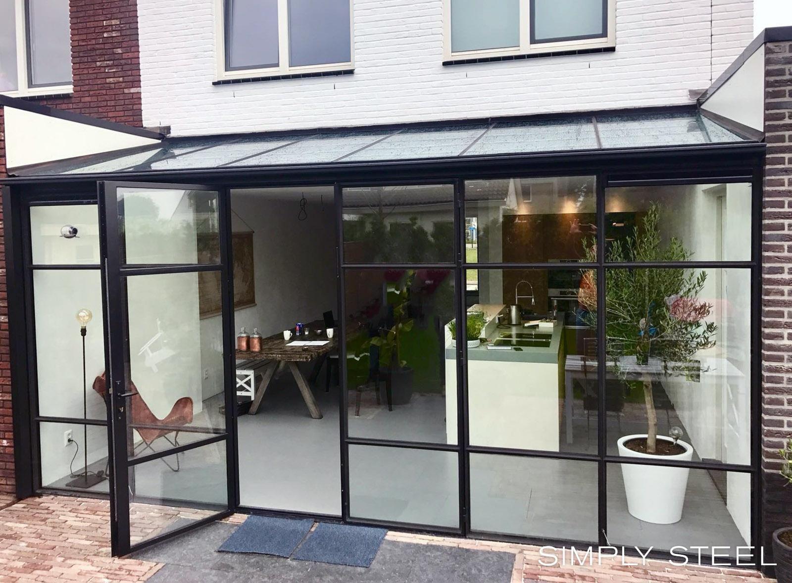 Veranda Metal Et Verre simply steel   rustiek huis ontwerp, huis verbouwen, serre