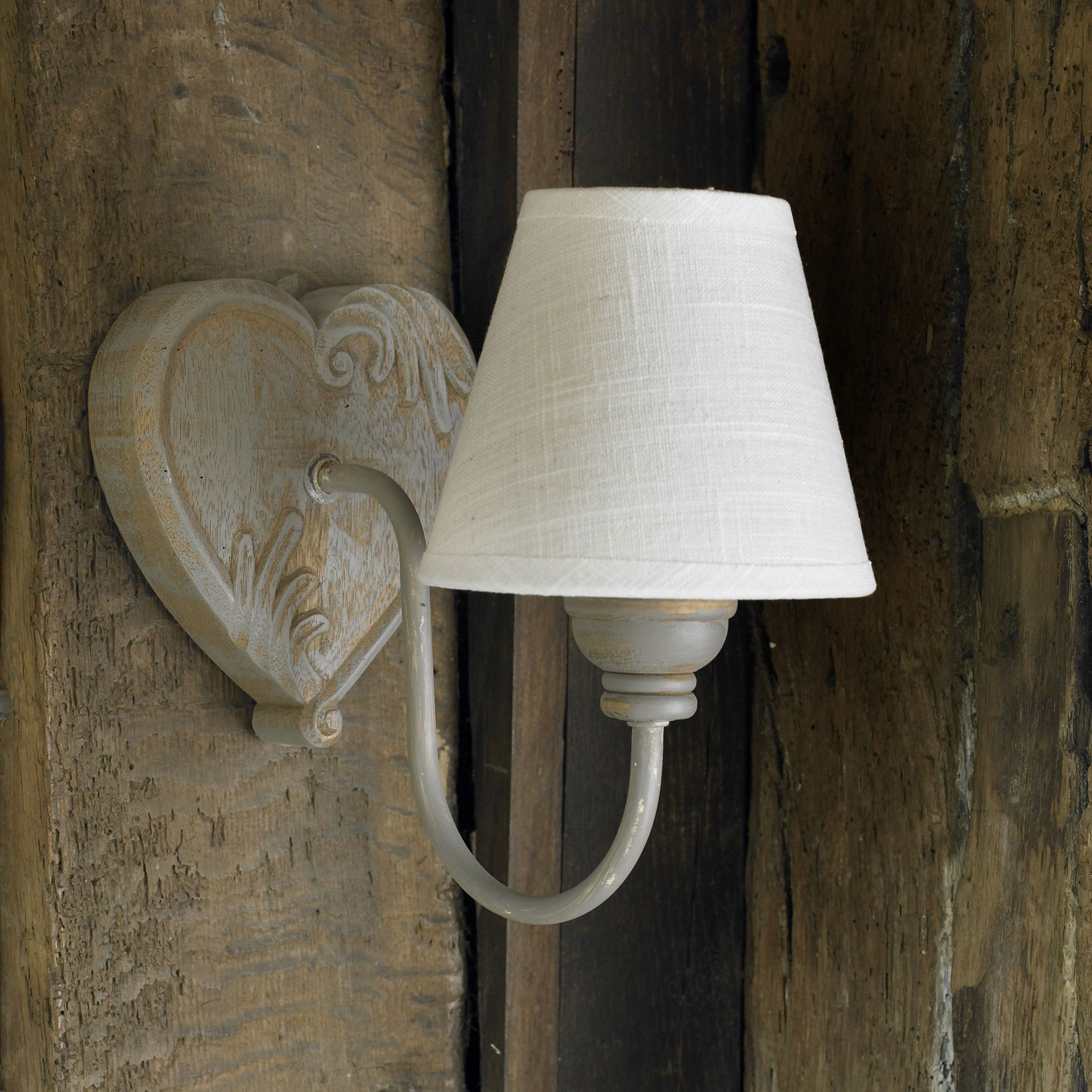 Rustic heart wall light french traditional gite project