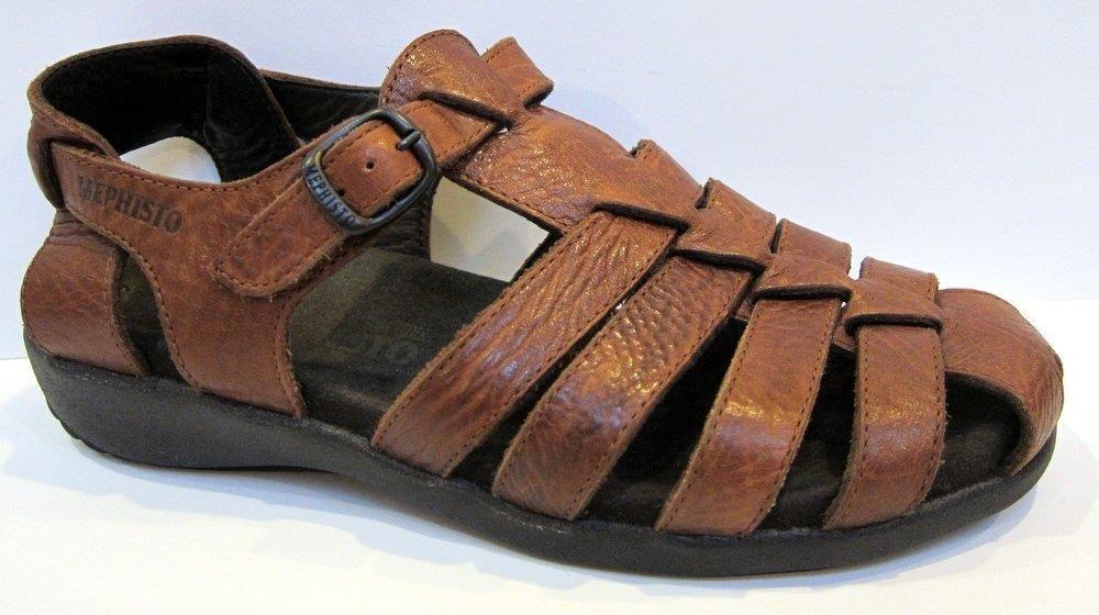 eb7f4bf8e Mephisto  Adilia  Brown Leather Fisherman Sandal Size 38 US 8  Mephisto   Strappy