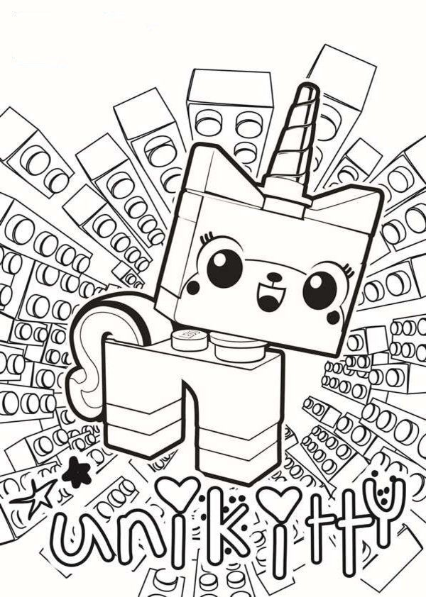 Unikitty Lego Movie Coloring Pages Lego Coloring Pages Lego