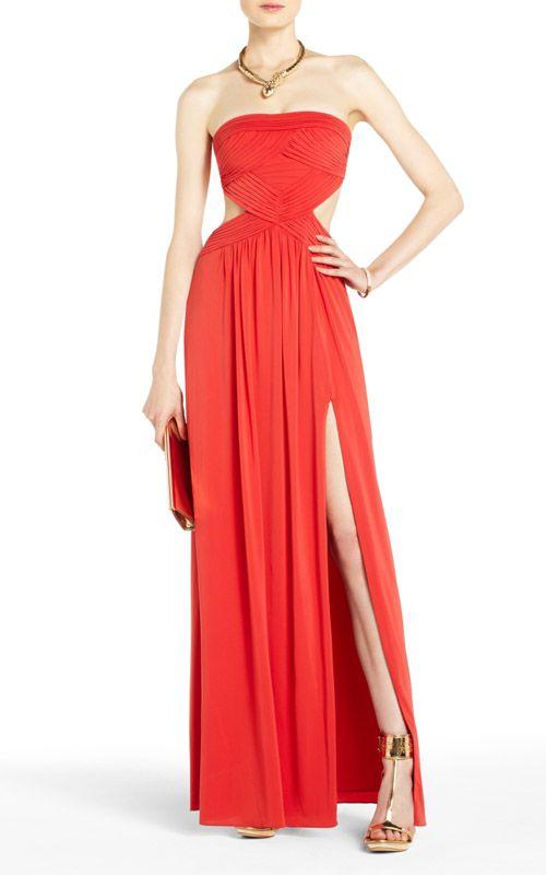 BCBG Max Azria AMBER Strapless Evening Gown Dress [10095 ...