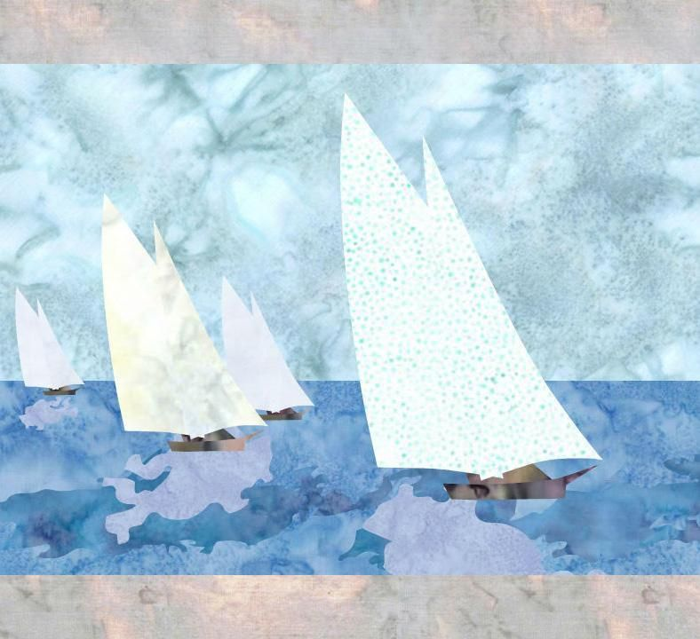 (7) Name: 'Quilting : Yacht Race