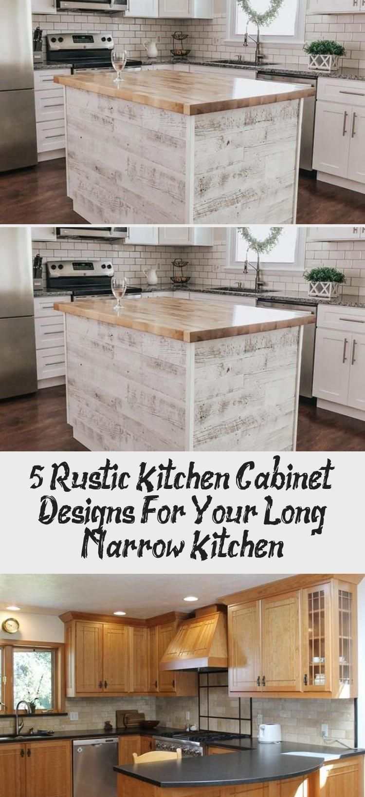 5 Rustic Kitchen Cabinet Designs For Your Long Narrow Kitchen #longnarrowkitchen 5 Rustic Kitchen Cabinet Designs for your Long Narrow Kitchen # #DesignsforyourLongNarrowKitchen, #Interior Design #kitchendesignMarble #kitchendesignSmall #Minimalistkitchendesign #kitchendesignBrown #kitchendesignBoard #longnarrowkitchen
