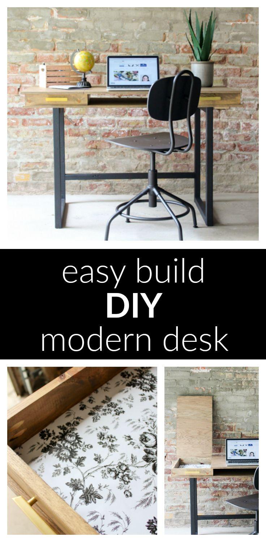 Diy Modern Desk A Beginner Woodworking Project Beginner