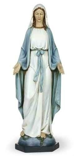 Blessed Mother Mary Our Lady of Grace Indoor Statue Painted  40 in Figure