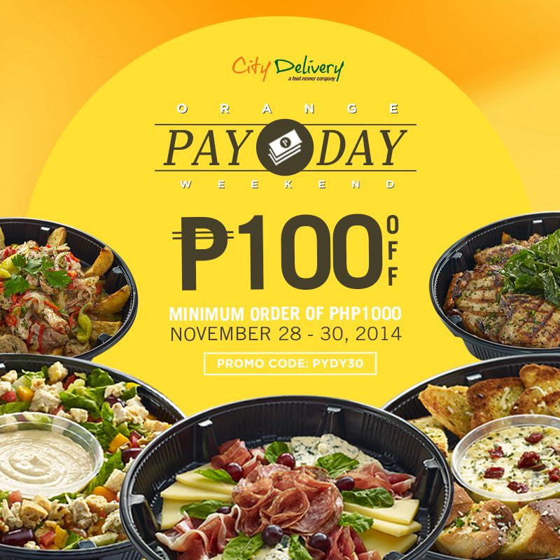 Hooray! It's another payday weekend, Foodies! #promo #payday