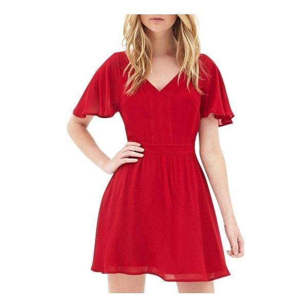 Fashion Solid Short Sleeve Backless Mini Cocktail Dress ($30) ❤ liked on Polyvore featuring dresses, red, a line cocktail dress, red cocktail dress, mini dress, short dresses and backless dresses
