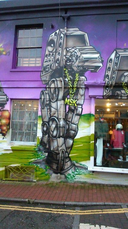 AT-AT Street-art