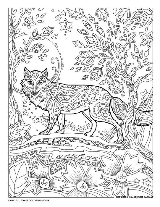 Fanciful Foxes Fox Coloring Page Animal Coloring Pages Horse Coloring Pages