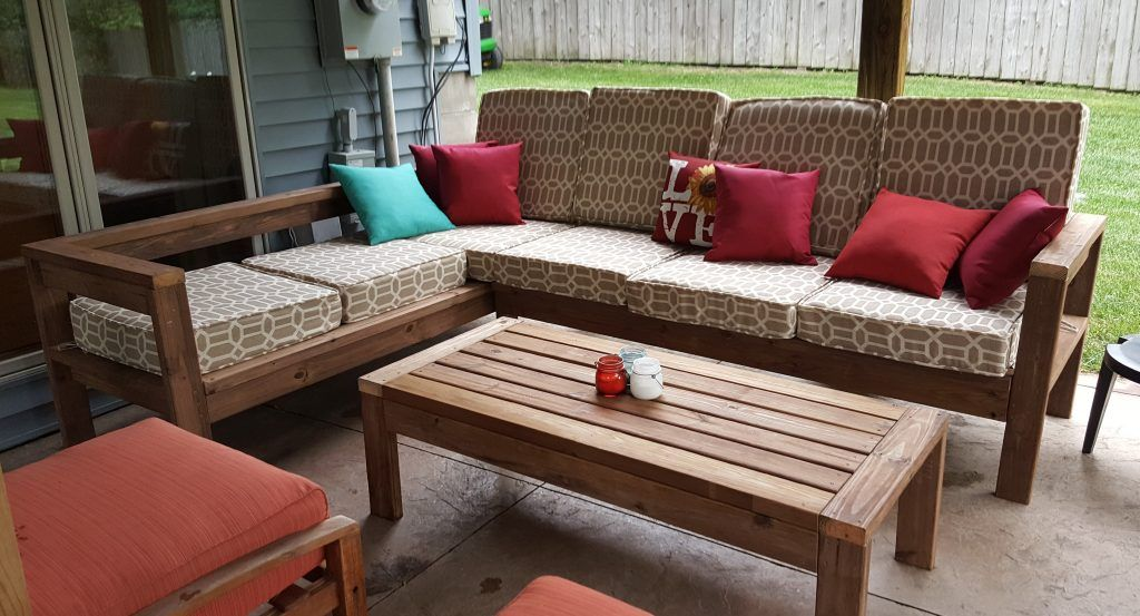 DIY Outdoor Sectional Couch Kinda Sorta Simple Wood