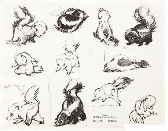 Bambi skunk   Disney inspiration   Pinterest   Dibujo, Dibujos ...