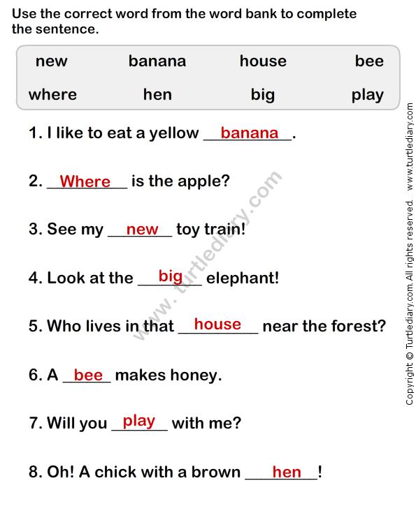 Simple Sentence Worksheet2 - esl-efl Worksheets - grade-1 ...