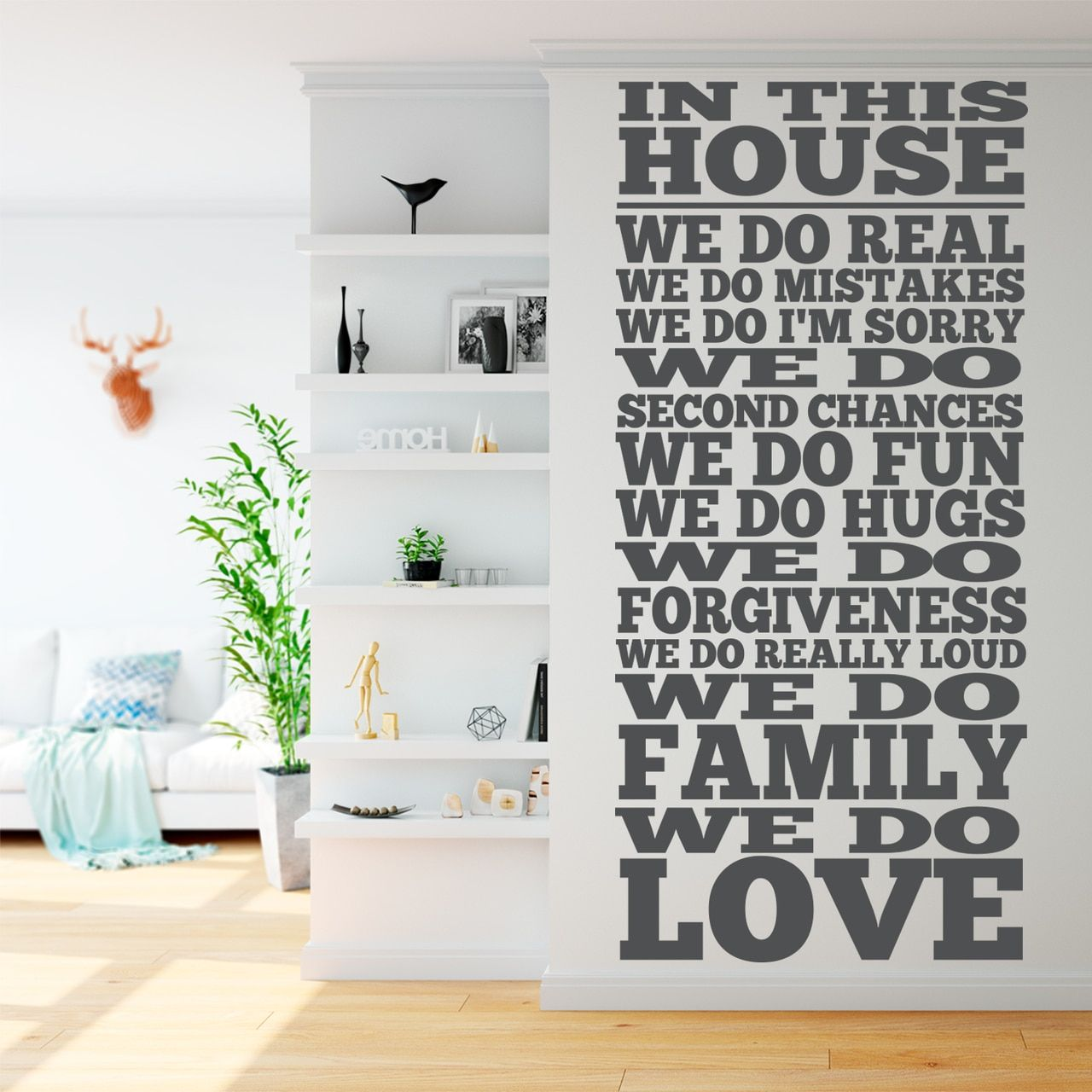 In This House We Do Wall Decal Living Room Decor Ideas Family Wall Decals Livingroomdecorat Wall Decals Living Room Wall Vinyl Decor Wall Decor Living Room
