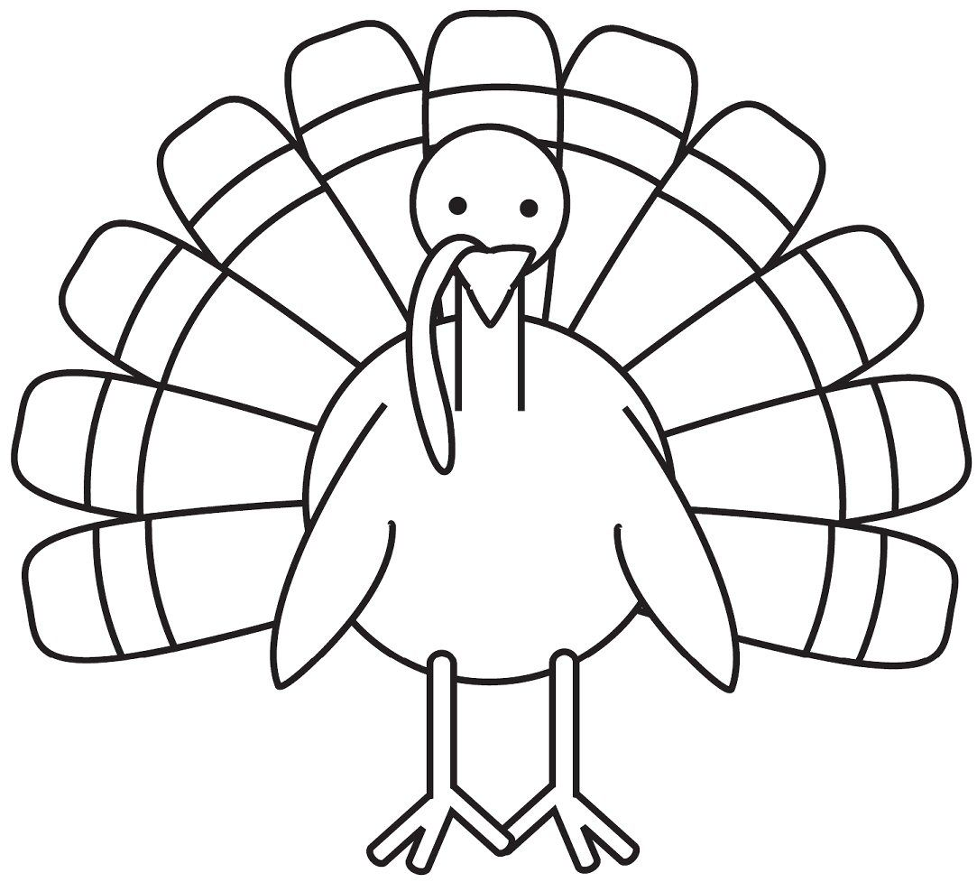 Turkey Drawing Coloring Pages For Kids Printable Animals