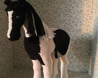 Amigurumi Horse Tutorial : Crochet horse stuffed horse crochet animalamigurumi by bellinka