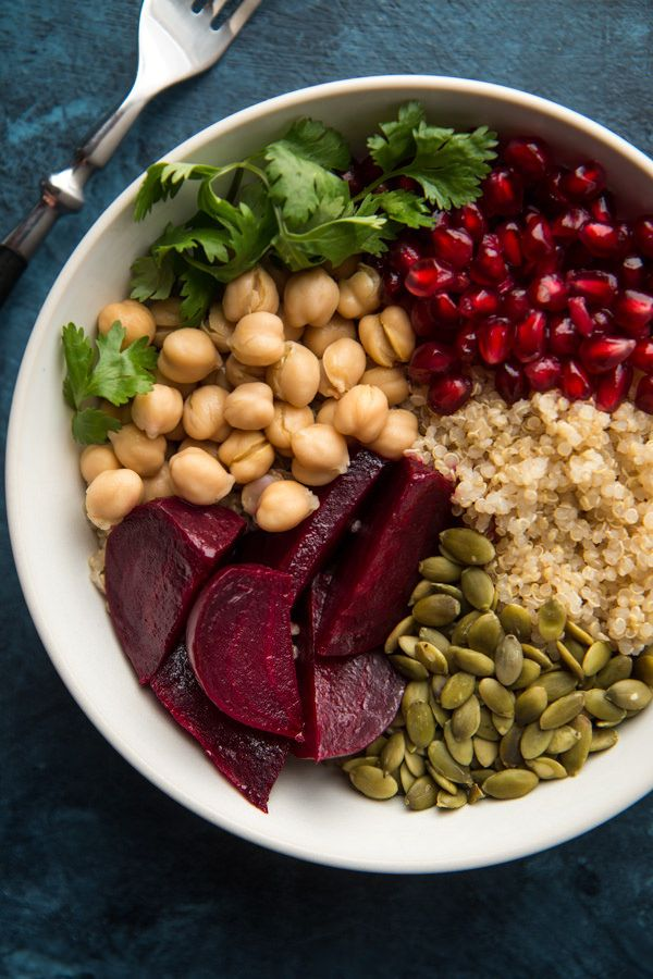 Beet Quinoa And Pomegranate Power Bowls