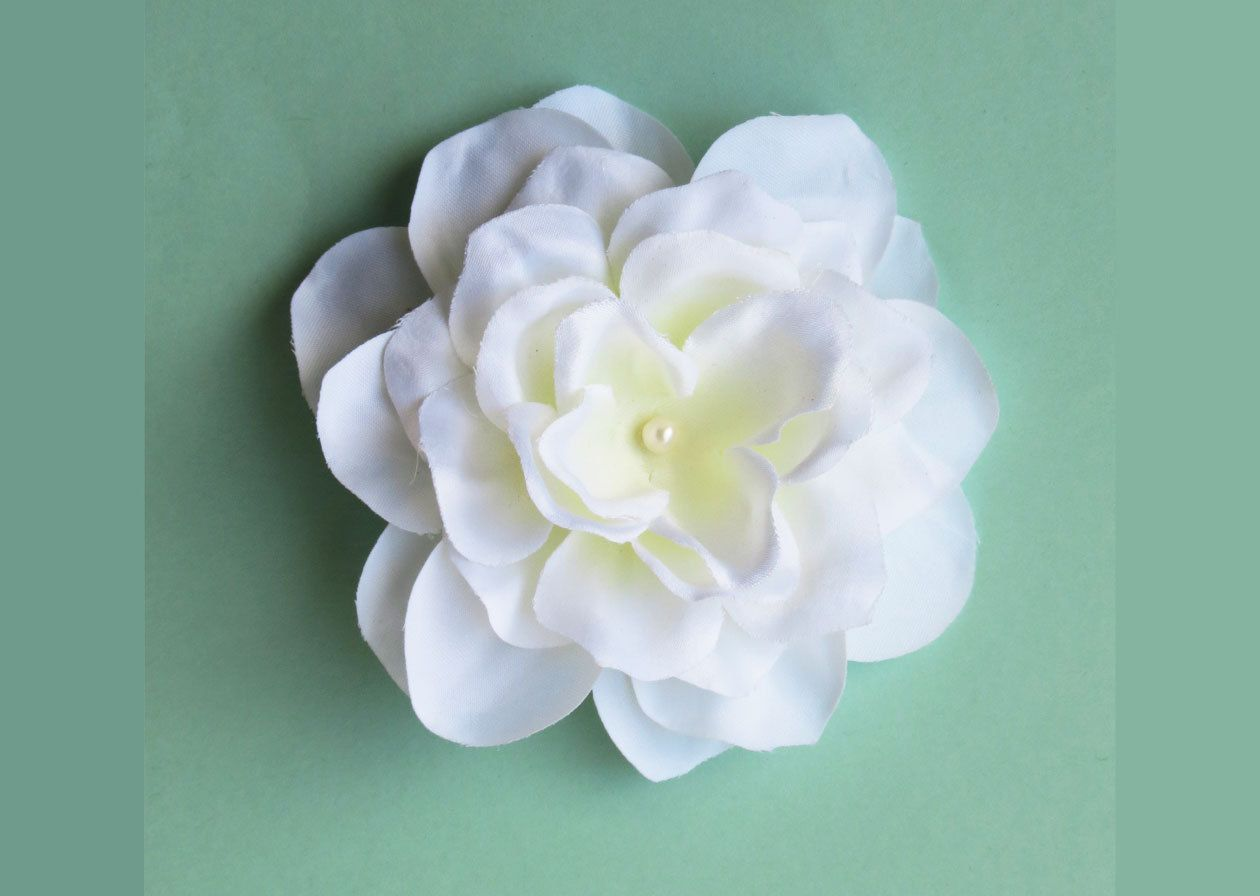 Gardenia Hair Clip White Flower Barrettes By Southcastlecreations On