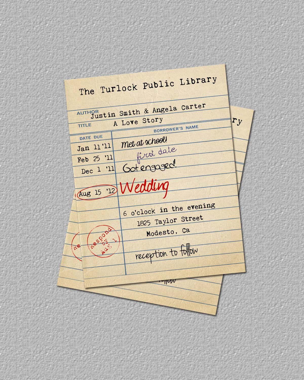 Pin by Peri Flanigan on Wedding  Library wedding invitations