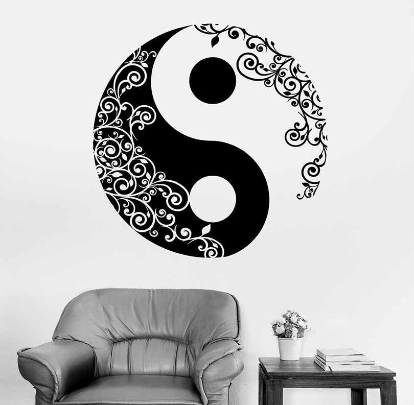 ClassificationFor Wall Brand NameWall Matter StyleCreative - Zen wall decalsvinyl wall decal yin yang yoga zen meditation bedroom decor