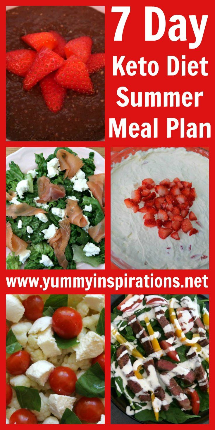 7 Day Keto Summer Diet Plan - Low Carb Meal Plan For Beginners images