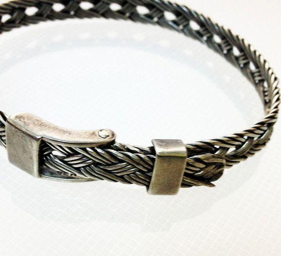 Mens Bracelet Braid 925 Belt  8