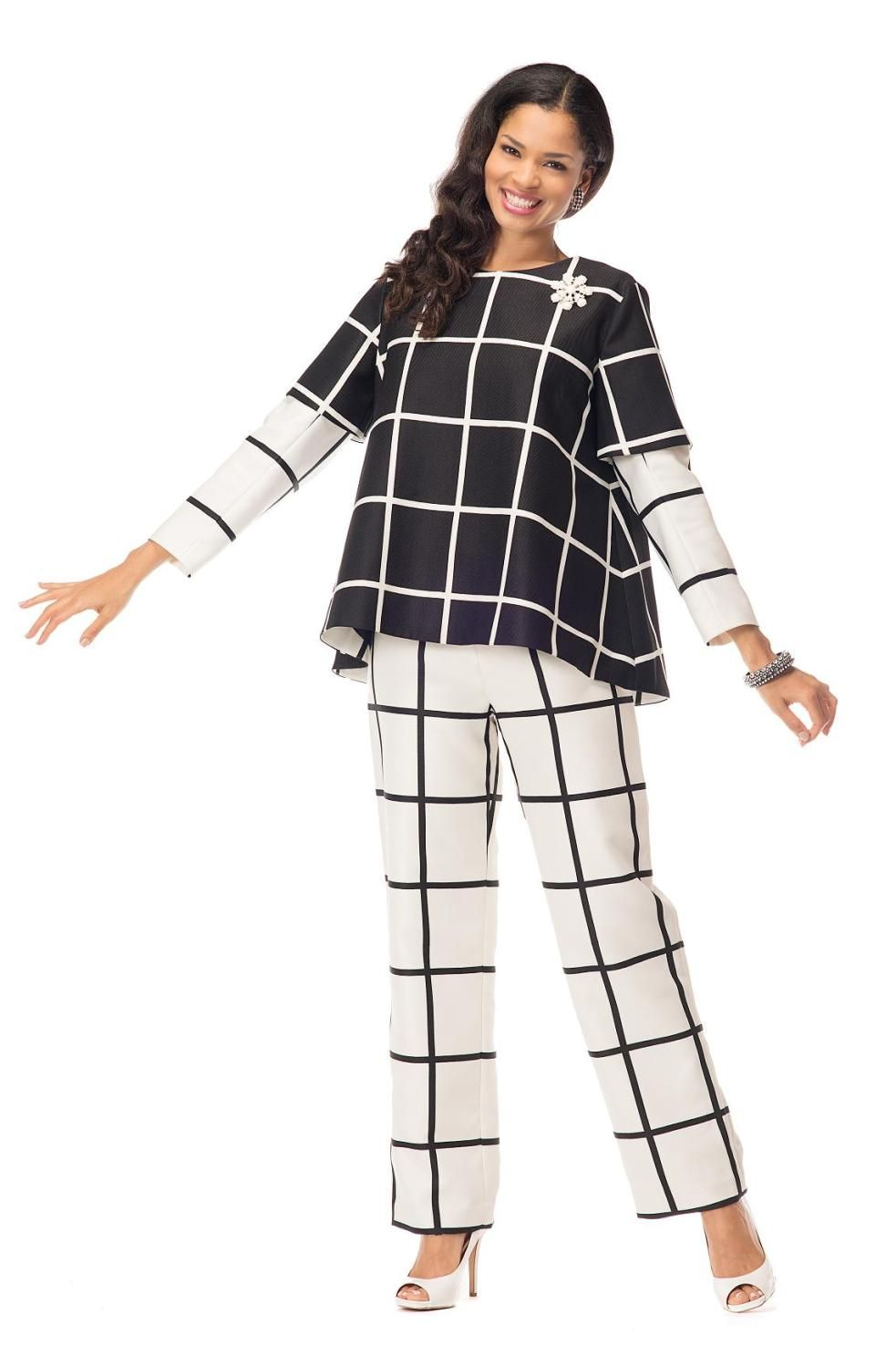 stunning piece pant suit by in novelty fabric great church suit stunning 2 piece pant suit by in novelty fabric great church suit work suit day into evening suit or special occasion suit top is 24 inches