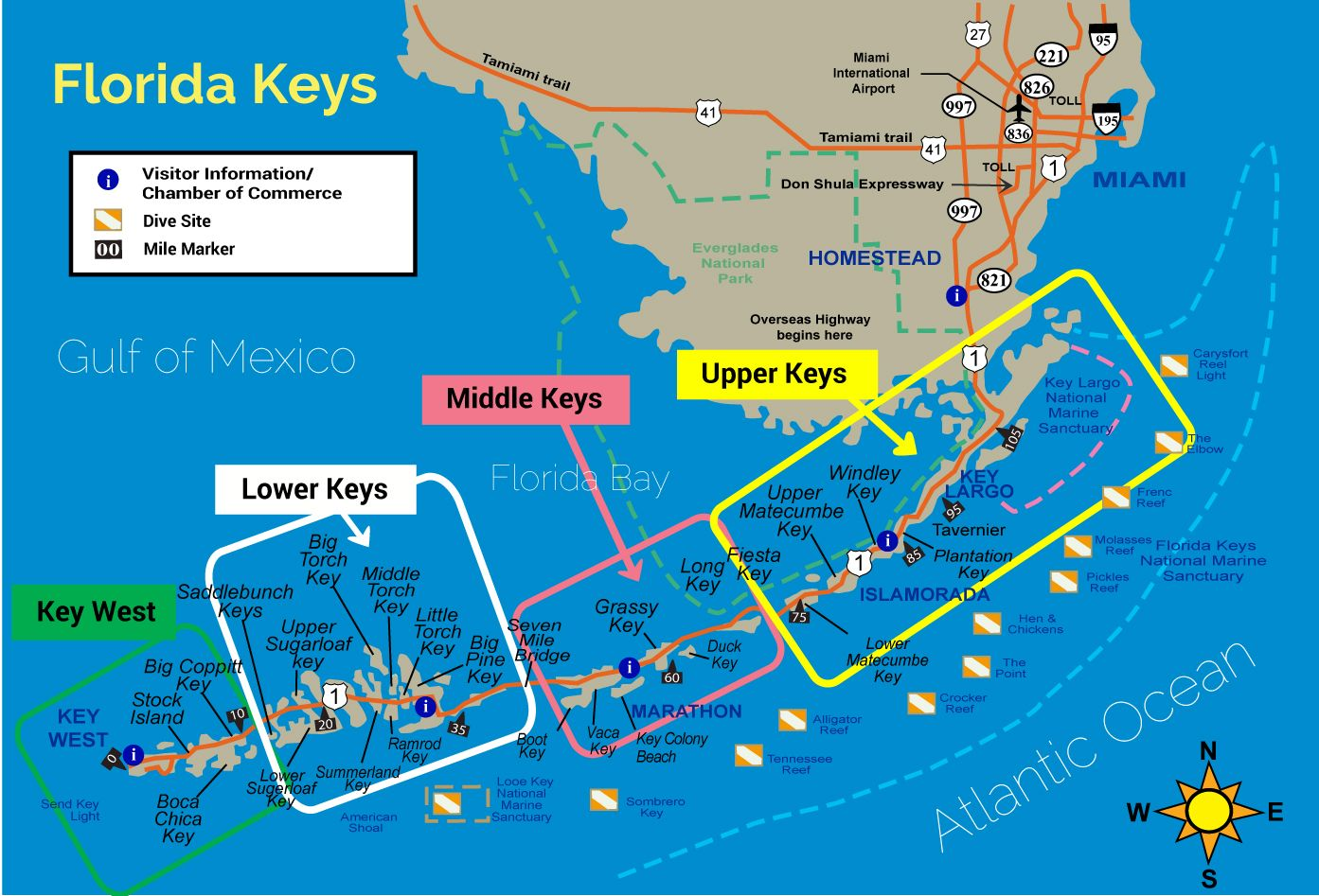 Brilliant Map Of Areas Served By Florida Keys Vacation Rentals Interior Design Ideas Ghosoteloinfo