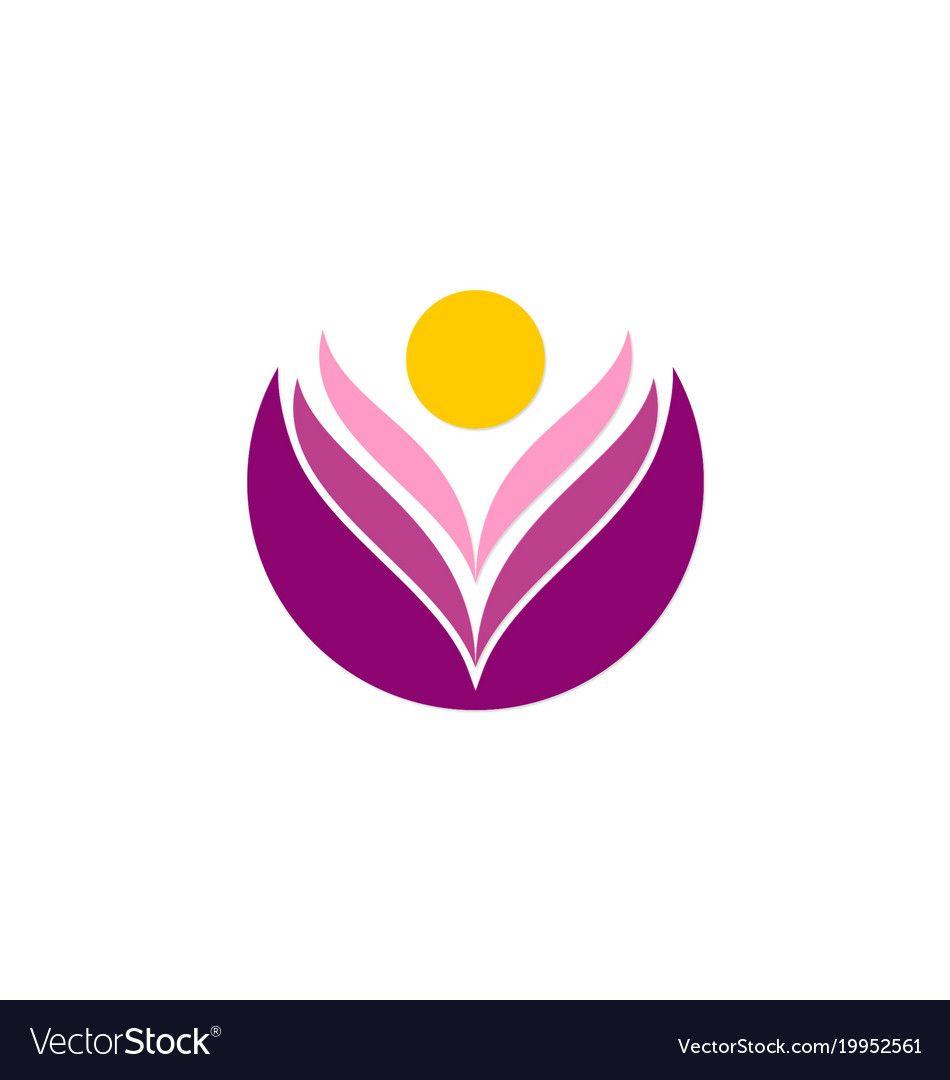 Beauty people lotus flower logo vector image on lotus