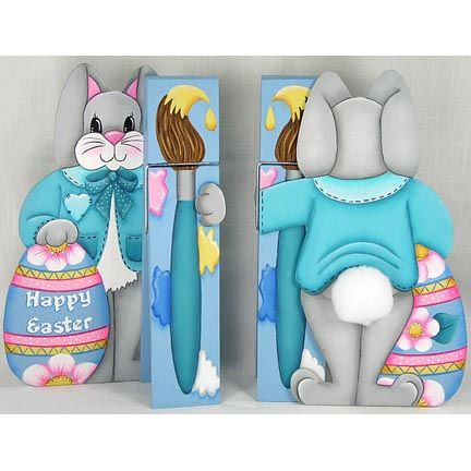 Happy Easter Clothespin Buddy DOWNLOAD