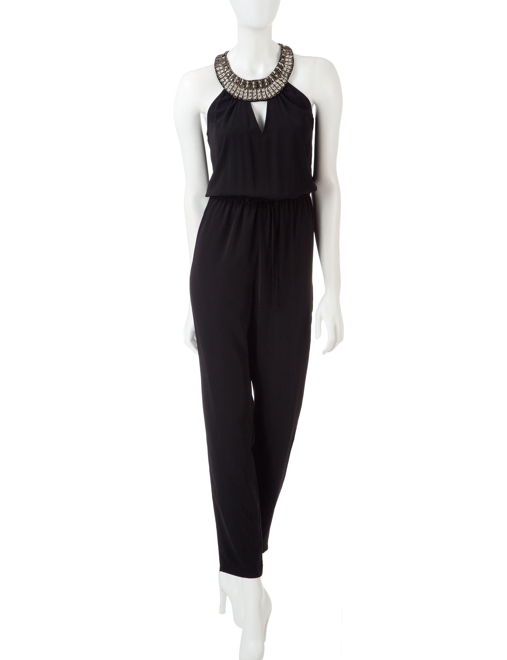 shop today for bebop solid color embellished neckline jumpsuit
