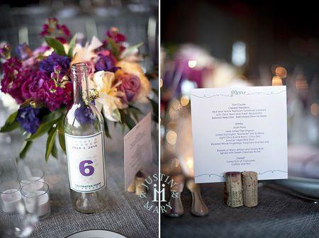 Mariage Violet Theme Vigne Vin Jolie Fete Mariage Violet
