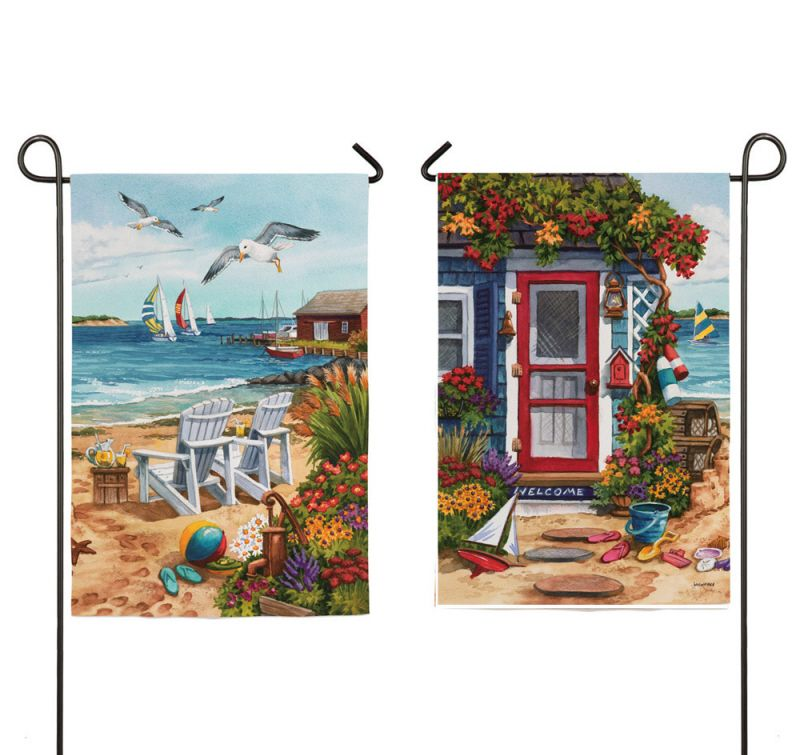 Lovely IAmEricas Flags   Summer Beach House 2 Sided Suede Reflections Garden Flag,  $14.00 (http