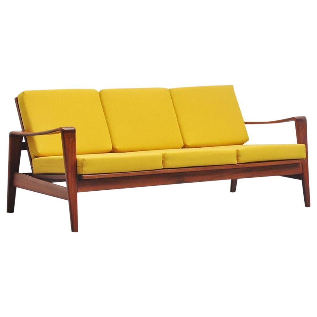 Arne Wahl Iversen Lounge Sofa, Komfort, Denmark, 1960 | Lounge sofa ...