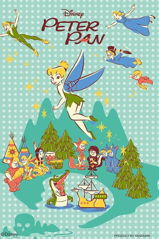ディズニー ピーターパン 背景のイラスト Cards ディズニー