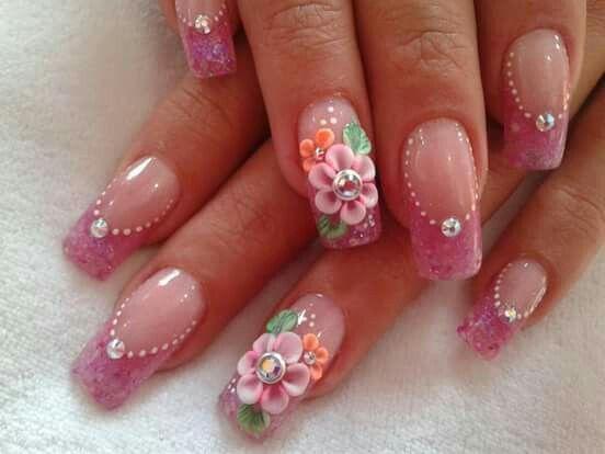 Pretty flower nail art pretty nail art pinterest flower nail pretty flower nail art prinsesfo Gallery