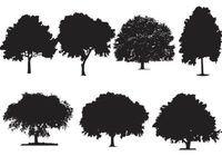 ... Oak Tree Silhouette Vectors ...