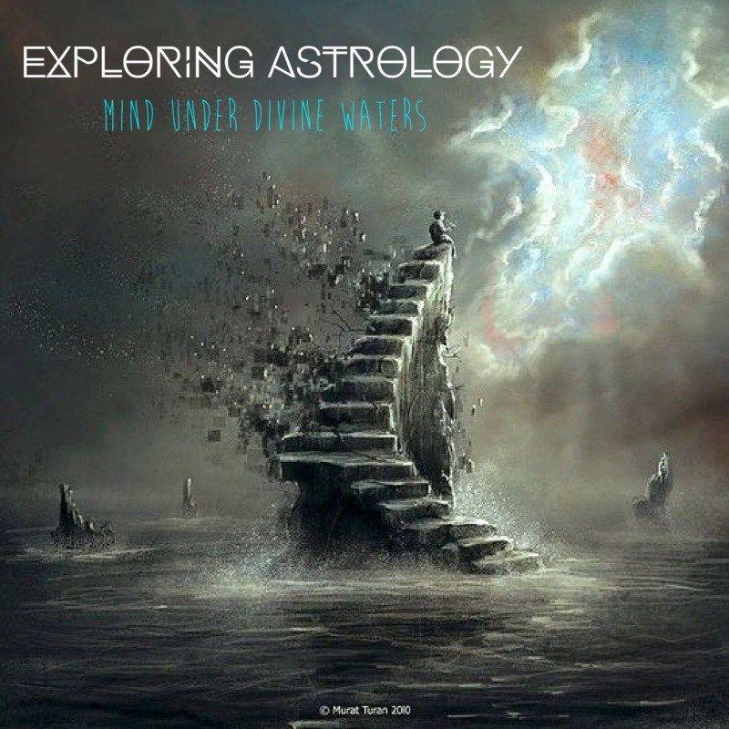 Exploring Astrology Mind under Divine Waters Surreal